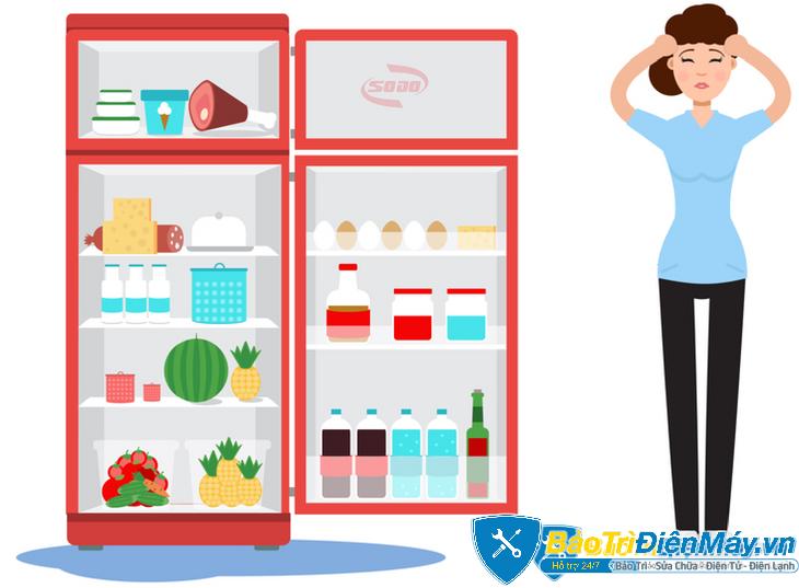 cửa tủ lạnh không khít